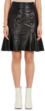 Derek Lam 10 Crosby Women's Leather Lace-Up Peplum Skirt