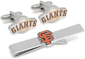 Ice San Francisco Giants Baseball Cufflinks and Tie Bar Gift Set