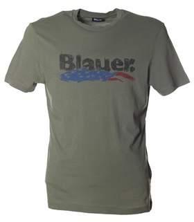 Blauer Men's Green Cotton T-shirt.