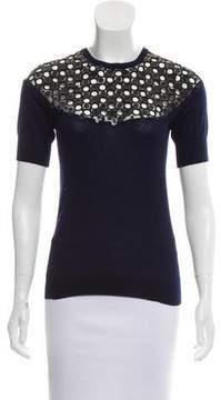 Isaac Mizrahi Embellished Cashmere Sweater