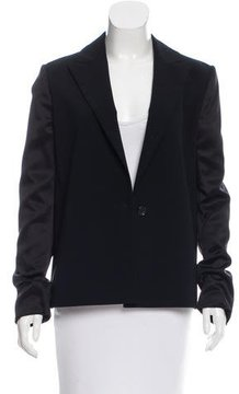 Cédric Charlier Satin-Accented Fitted Blazer