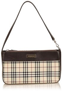 Burberry Pre-owned: Plaid Jacquard Shoulder Bag. - BROWN X BEIGE X MULTI - STYLE