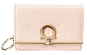 Salvatore Ferragamo Gancio Clasp Leather Card Case.