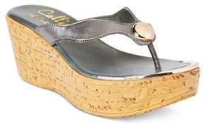 Callisto Womens Belisima Leather Open Toe Casual Platform Sandals.