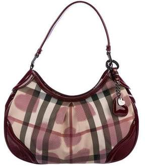 Burberry Hearts Nova Check Hobo