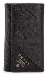 Prada Saffiano Leather Keychain Wallet
