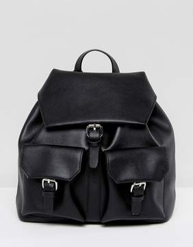 Glamorous Black Backpack with Pocket Detail