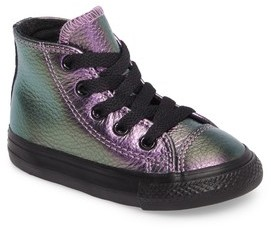 Converse Infant Girl's Chuck Taylor All Star Iridescent Leather High Top Sneaker