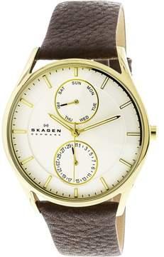 Skagen Men's Holst SKW6066 Brown Leather Japanese Quartz Fashion Watch