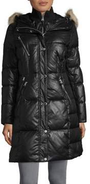 Andrew Marc Leigh Faux-Fur Trimmed Puffer Coat