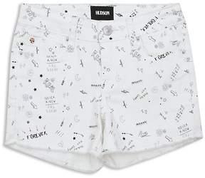 Hudson Girls' Ava Doodle-Print Shorts - Big Kid