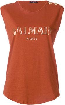 Balmain logo printed top