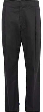 Public School Jekon Grosgrain-Trimmed Pleated Cotton-Blend Twill Trousers