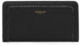 Michael Kors Collection Skorpios Leather Zip-Around Continental Wallet