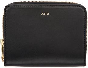 A.P.C. Black Compact Zipped Wallet