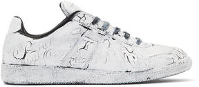 Maison Margiela Black and White Painted Replica Sneakers