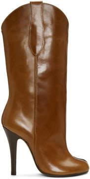 Maison Margiela Brown Tabi Cowboy Boots