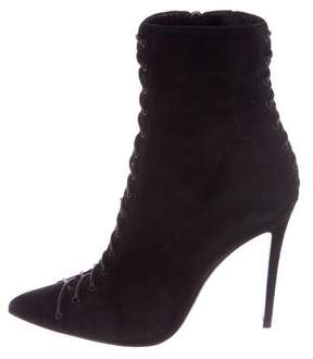 Barbara Bui Lace-Up Pointed Booties
