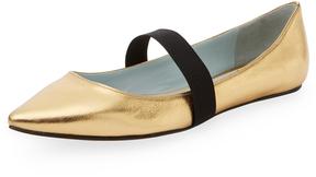 Marc Jacobs Women's Halsey Metallic Leather Pointed-Toe Flat