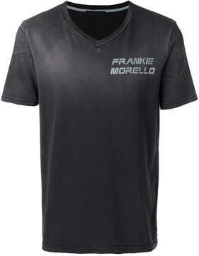Frankie Morello V-neck logo print T-shirt