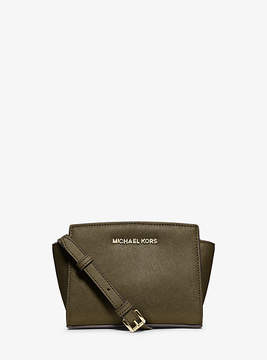 Michael Kors Selma Mini Saffiano Leather Crossbody - GREEN - STYLE