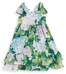 Dolce & Gabbana Toddler's, Little Girl's & Girl's Cotton Multi Printed Floral Dress