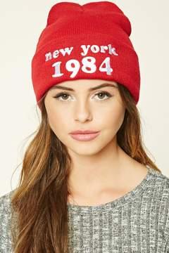 Forever 21 New York 1984 Beanie