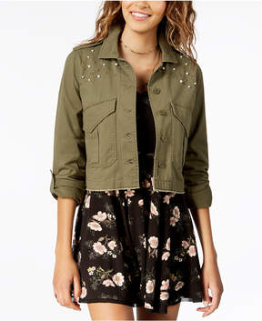 American Rag Juniors' Cotton Embellished Utility Jacket, Created for Macy's