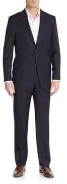 Hickey Freeman Regular-Fit Tonal Striped Wool Suit