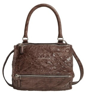 Givenchy 'Small Pepe Pandora' Leather Shoulder Bag - Grey