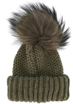 Inverni beanie with racoon fur pom pom
