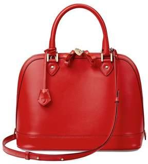 Aspinal of London | Hepburn Bag In Smooth Scarlet | Smooth scarlet