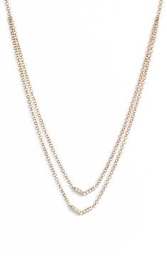 Ef Collection Women's Double Row Chevron Diamond Necklace