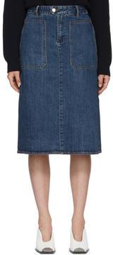 A.P.C. Indigo Denim Nevada Skirt