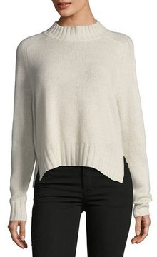 360 Sweater 360Sweater Delanie Mock-Neck Pullover Cashmere Sweater