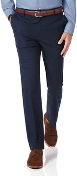 Charles Tyrwhitt Navy Slim Fit Stretch Non-Iron Cotton Tailored Pants Size W30 L32