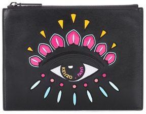 Kenzo Eye embellished leather clutch