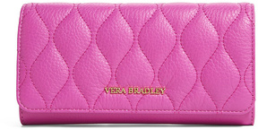 Vera Bradley Magenta Quilted Audrey Leather Wallet - MAGENTA - STYLE