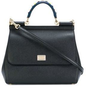 Dolce & Gabbana Dolce E Gabbana Women's Black Leather Handbag. - BLACK - STYLE