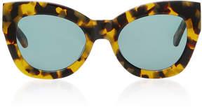 Karen Walker Northern Lights Tortoiseshell Acetate Cat-Eye Sunglasses