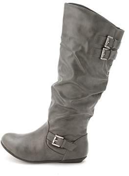 Rampage Women's Cyrene Leather Knee High Boot.