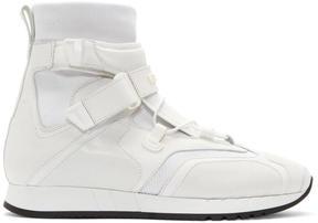 Versace White Runway High-Top Sneakers