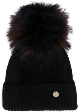 Yves Salomon removable pom pom knit hat