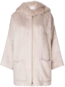 Agnona zipped hooded coat