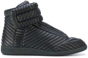 Maison Margiela ribbed hi-top sneakers