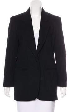 Henri Bendel Wool & Cashmere Button-Up Blazer