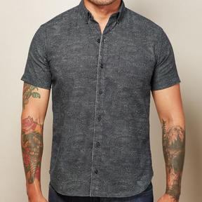 Blade + Blue Deep Navy Swirl Print Shirt - NEWTON