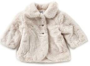 Edgehill Collection Baby Girl 3-9Months Faux Fur Coat