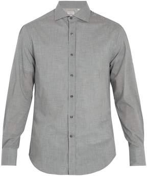 Brunello Cucinelli Spread-collar cotton shirt