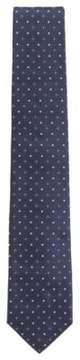 BOSS Hugo Dot Embroidered Italian Silk Tie One Size Dark pink